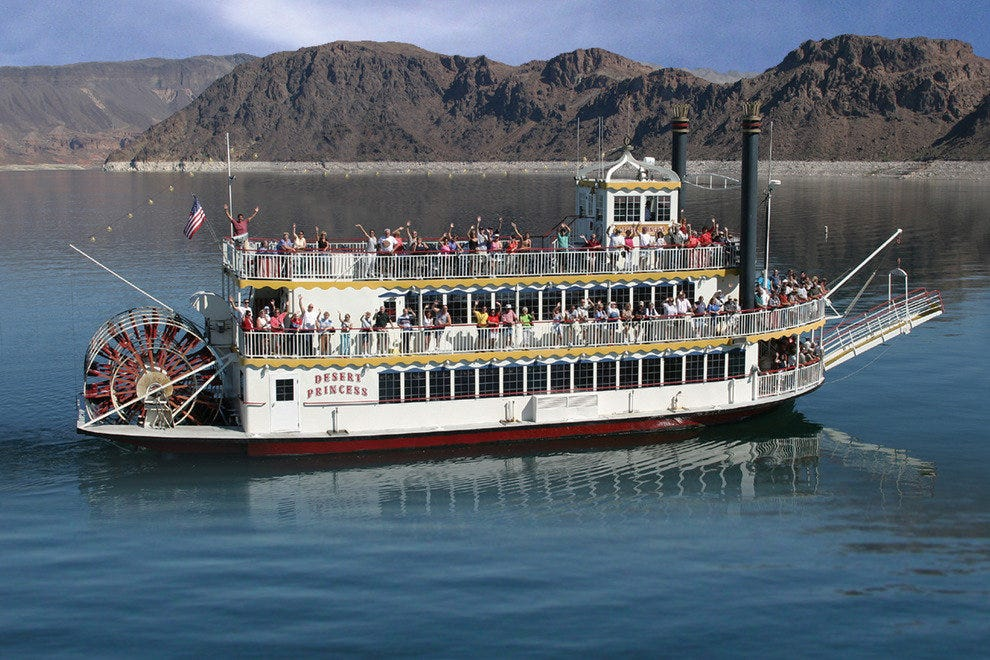Lake Mead Cruises offers several excursions that take passengers up to Hoover Dam
