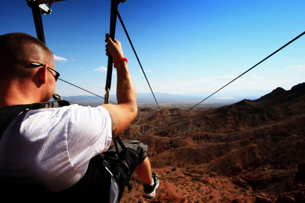 Flightlinez Bootleg Canyon provides guests with a bird's-eye view of the Mojave Desert