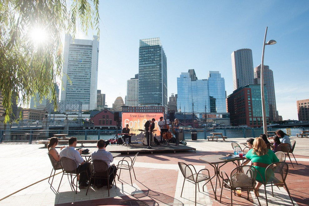 Live music in Boston's Seaport District
