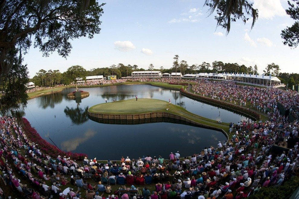 #17 green at TPC Sawgrass, Ponte Vedre, Florida