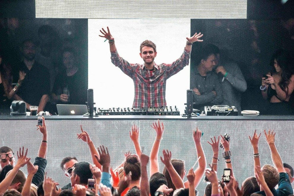Resident DJ Zedd performs for a packed house at LIGHT