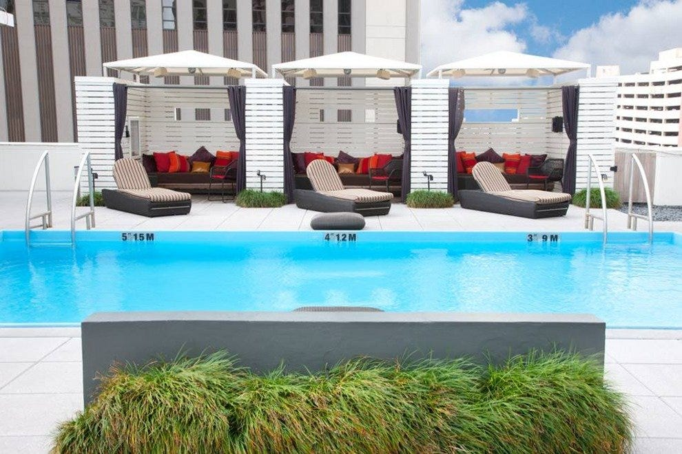 Rooftop pool at the W