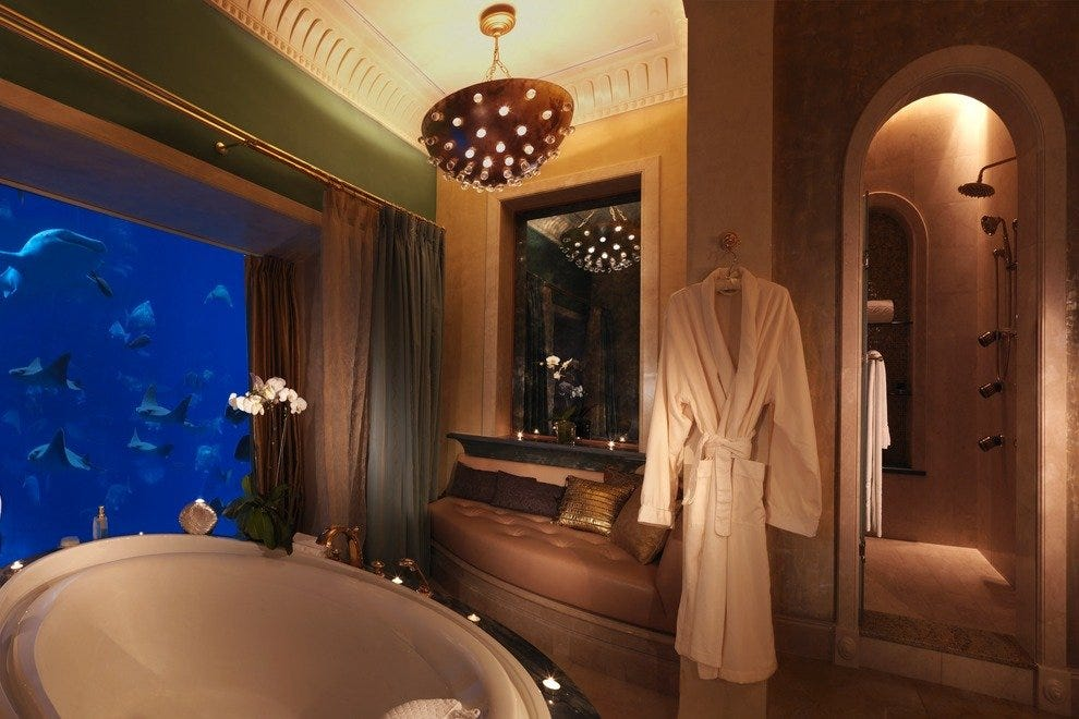 Underwater suite at the Atlantis