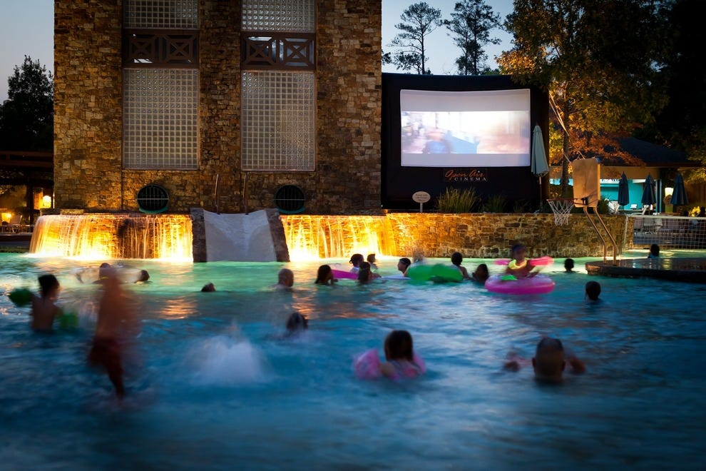 Dive-In Movies at the Forest Oasis Waterscape