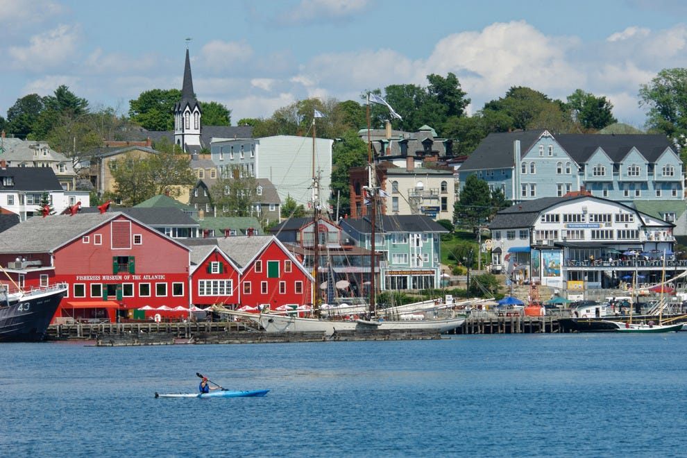 Kayaker in Lunenburg Harbour