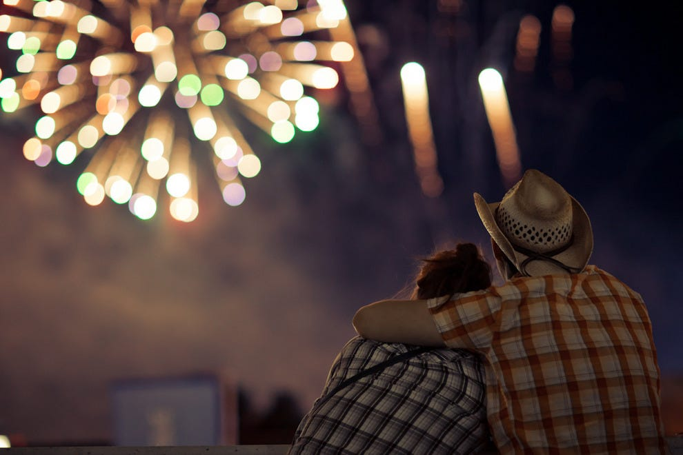 Fireworks over Calgary Stampede