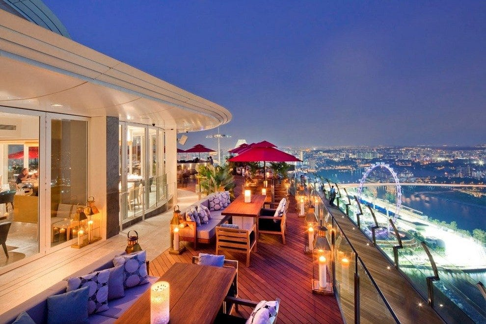 The terrace at restaurant Ku De Ta in Singapore
