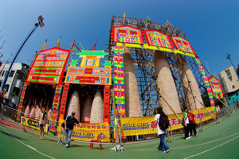 Bun towers under construction
