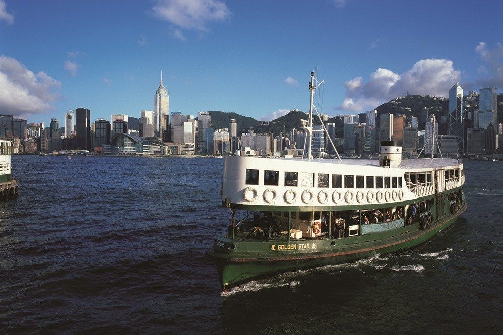 Star Ferry is an iconic way to see Hong Kong.