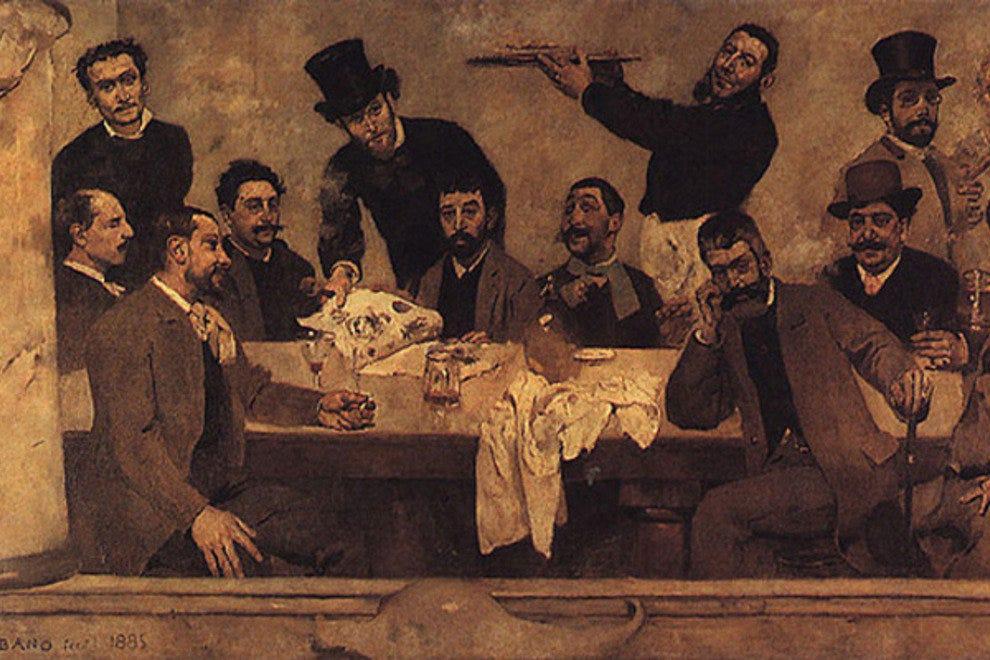 哥伦布·博达洛·皮尼里奥在基亚多博物馆创作的《绿波·多·里奥》