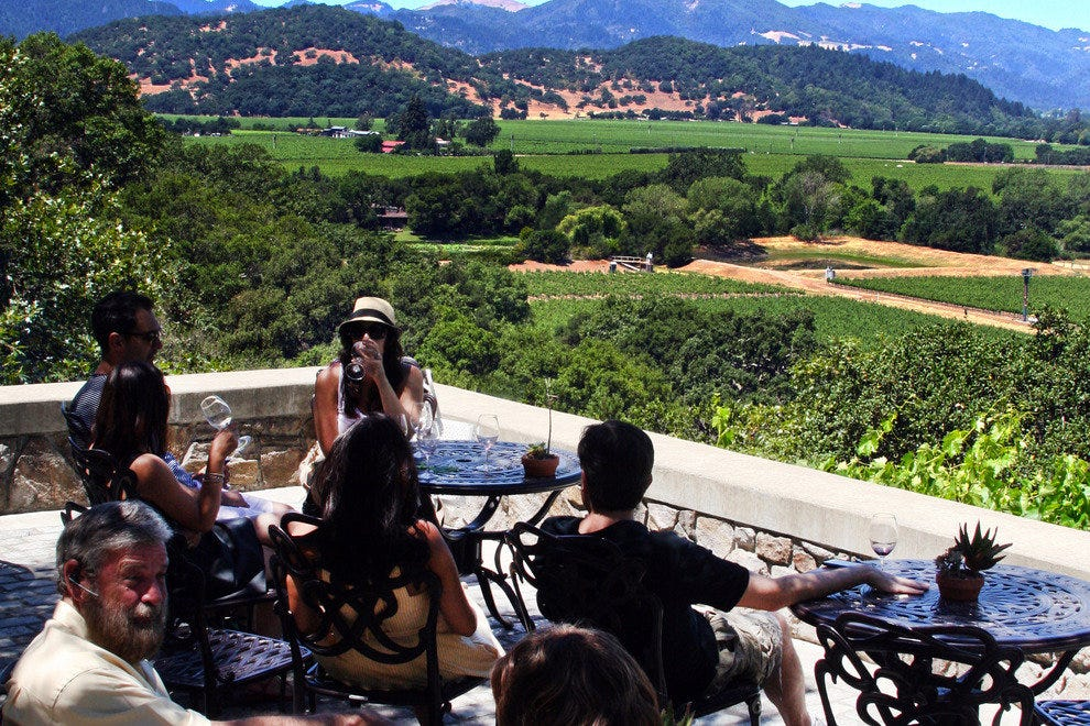 Drink in a Gorgeous View While Sipping Napa Wine