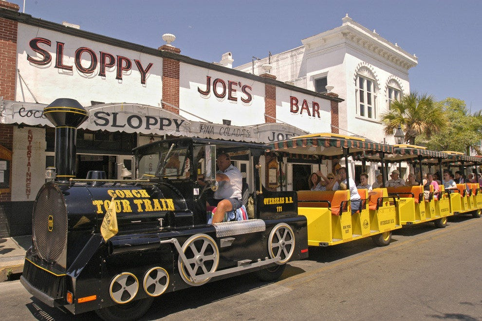 The Conch Tour Train in Key West