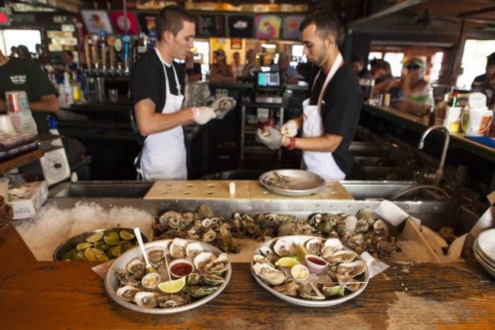 Oysters on The Half Shell Half Shell Raw Bar