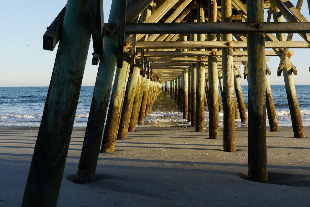 Under the pier at Myrtle Beach