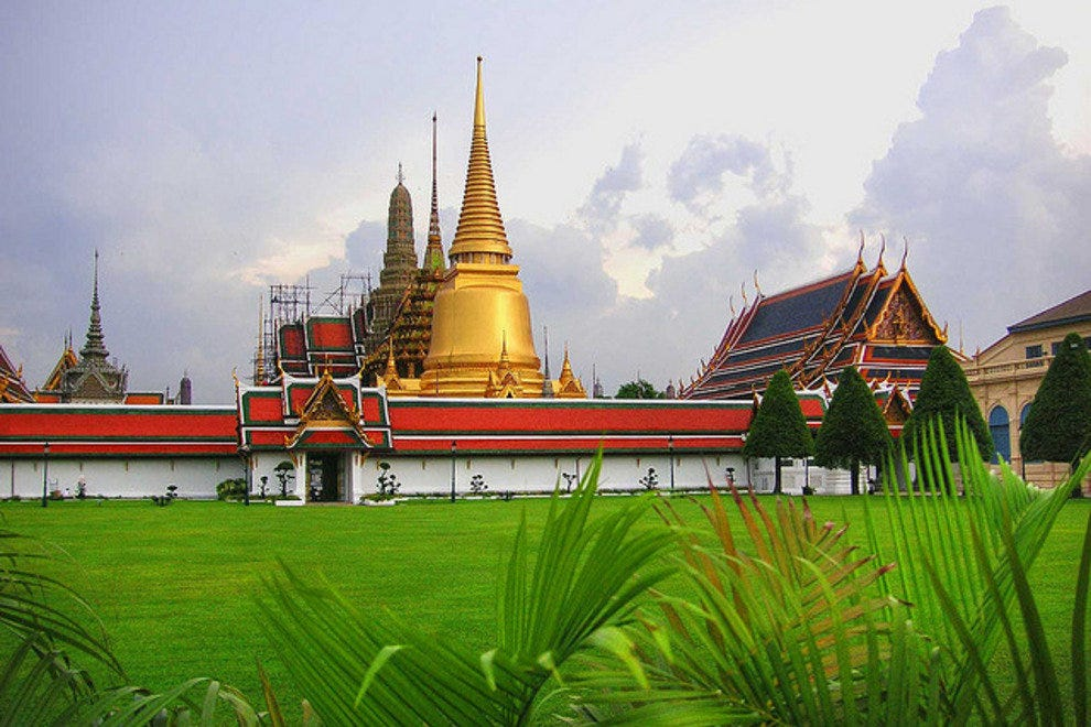 The Grand Palace, one of Bangkok's most visited attractions