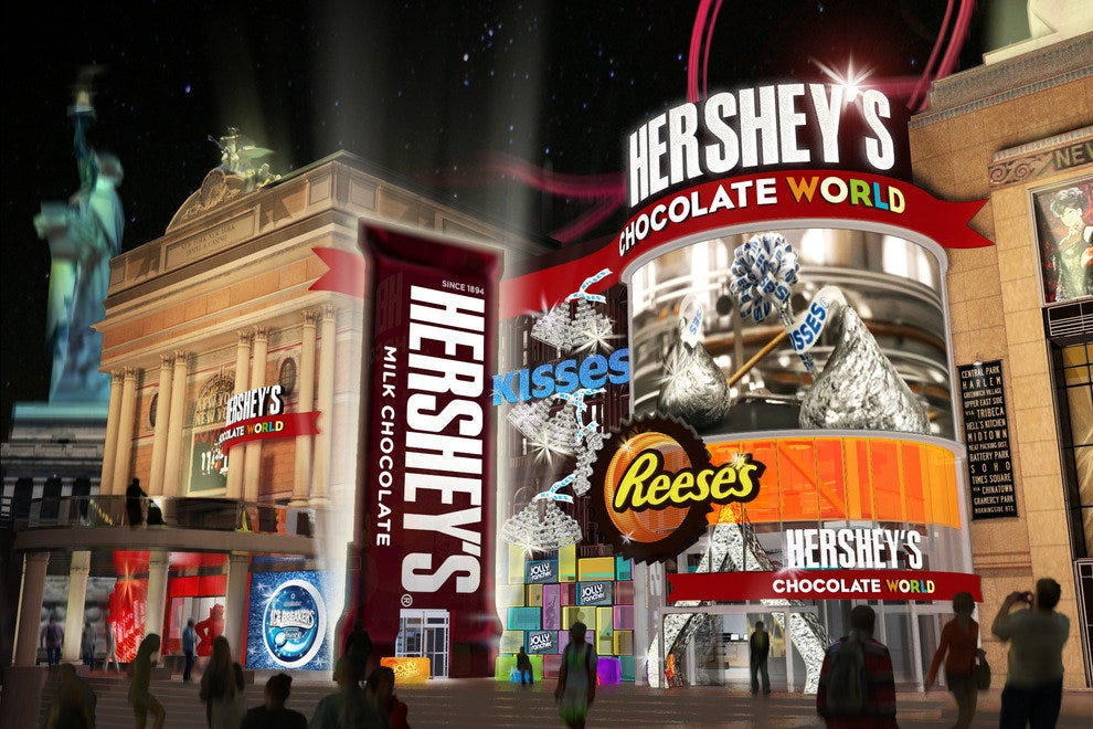 A rendering of the Strip's first Hershey's Chocolate World
