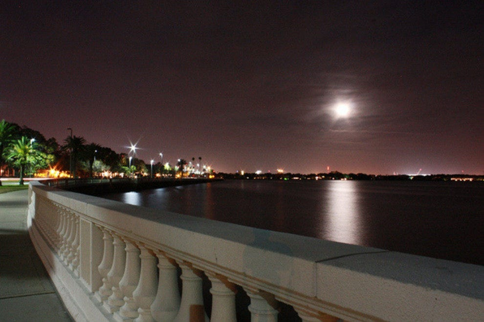 Romantic Bayshore Boulevard at night