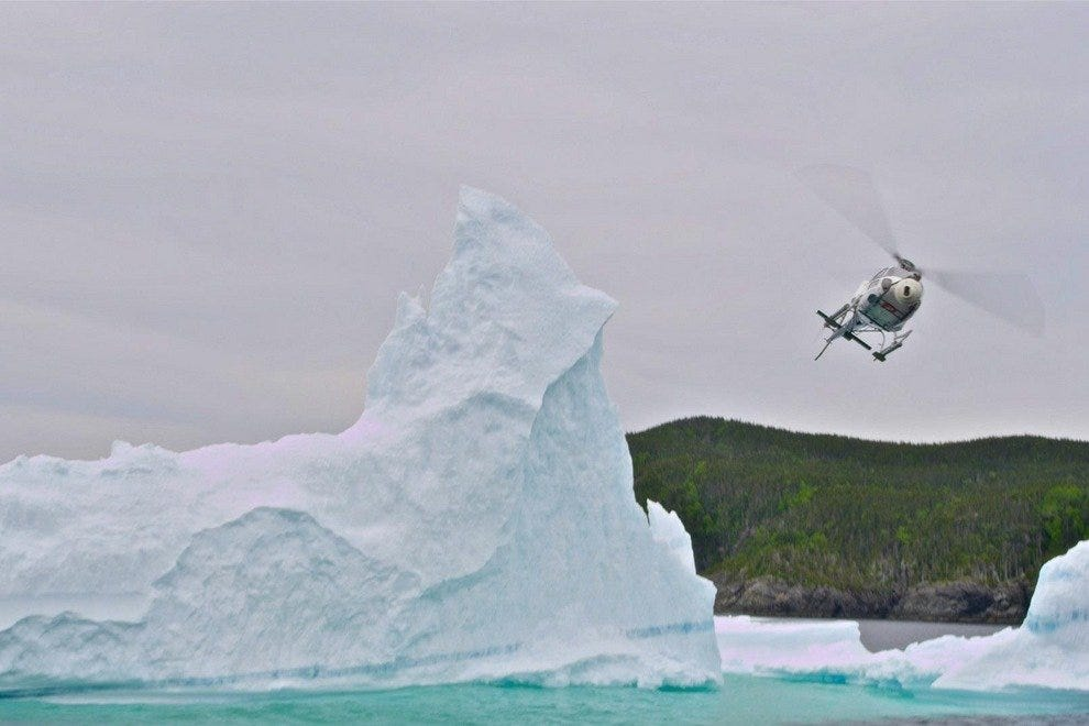 A helicopter gets the shot for FlyOver Canada