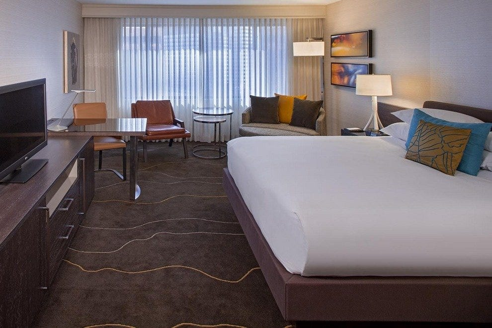Guest rooms are part of the Grand Hyatt renovation