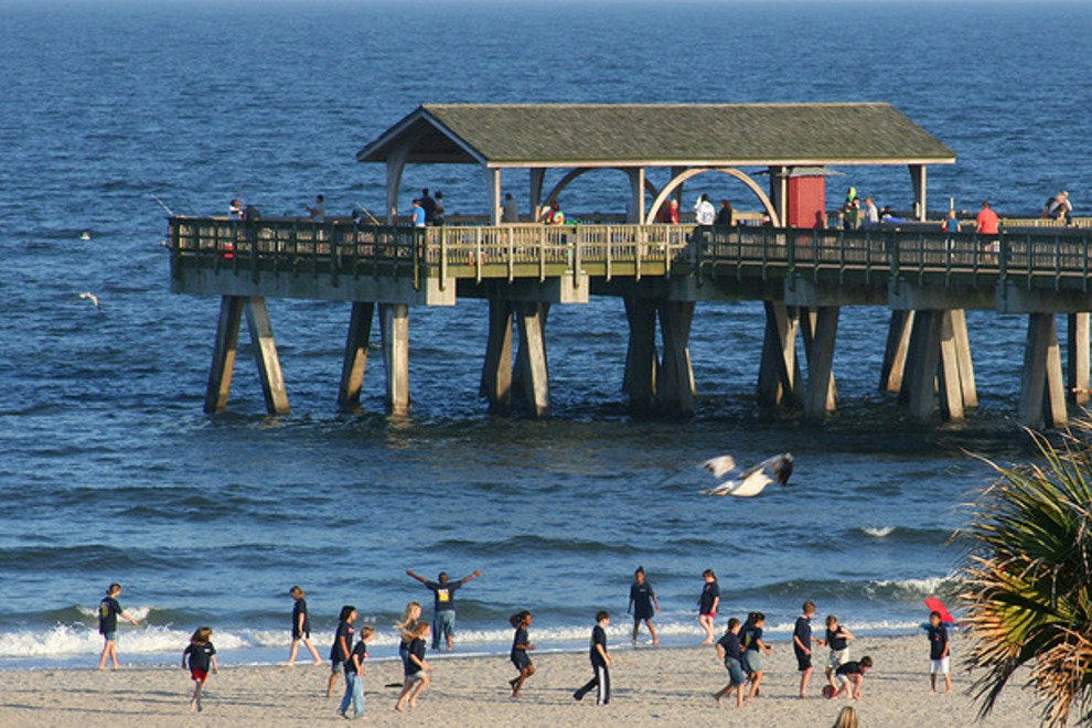 The Tybee Pier and Pavilion always draws a crowd.