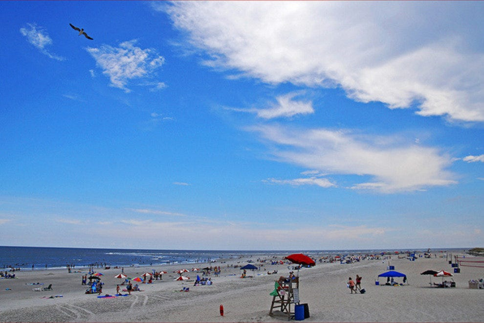 Tybee Island, just 20 minutes from Downtown Savannah, boasts five miles of beaches.