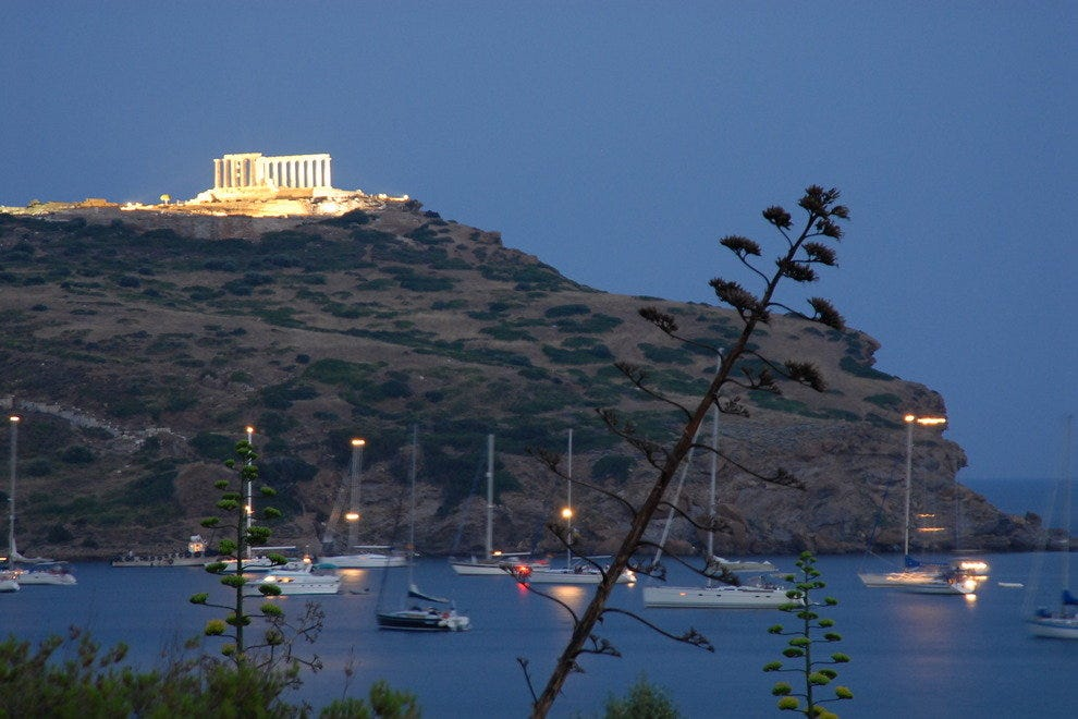 Temple of Poseidon, one of many romantic stops for your short Athens visit