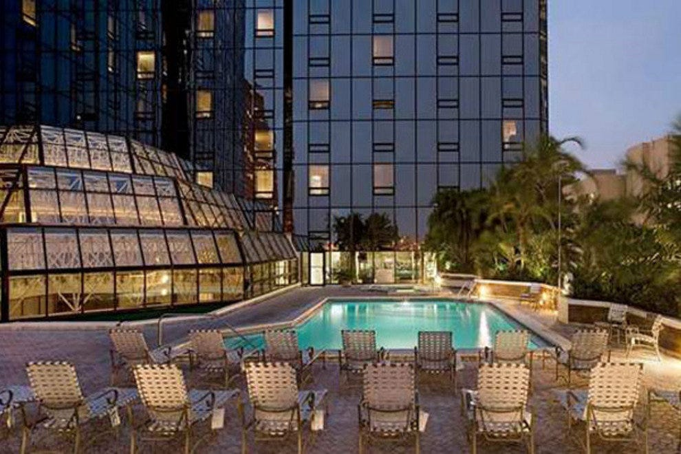 The new Hilton Tampa Downtown features a beautiful rooftop pool