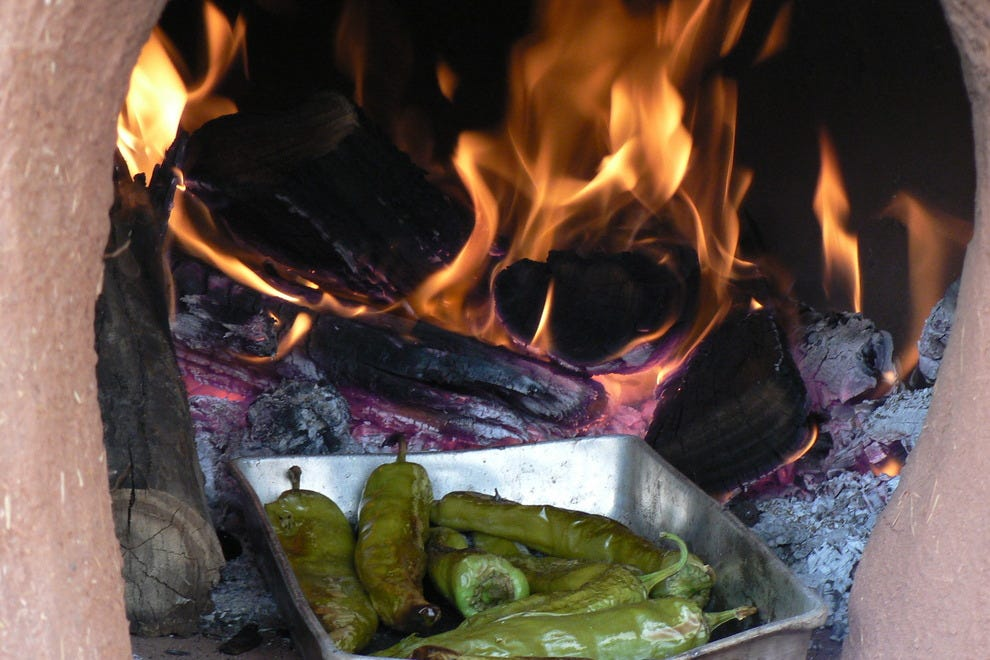 Fire-roasted green chile