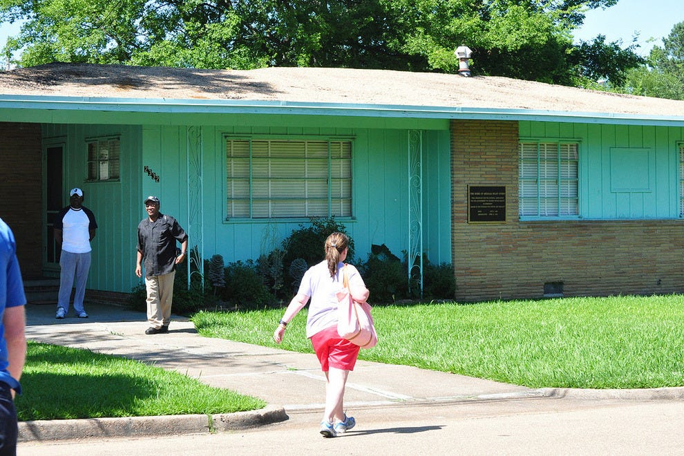 The driveway where Medgar Evers was shot and killed