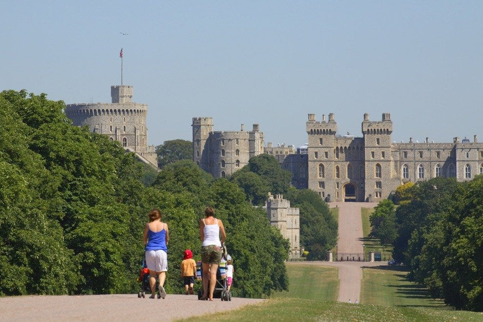 A sunny day at Windsor Palace