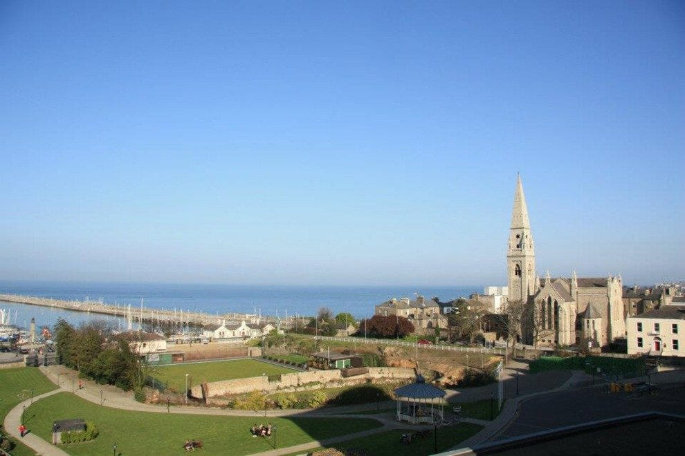 View of Dun Laoghaire from the National Maritime Museum