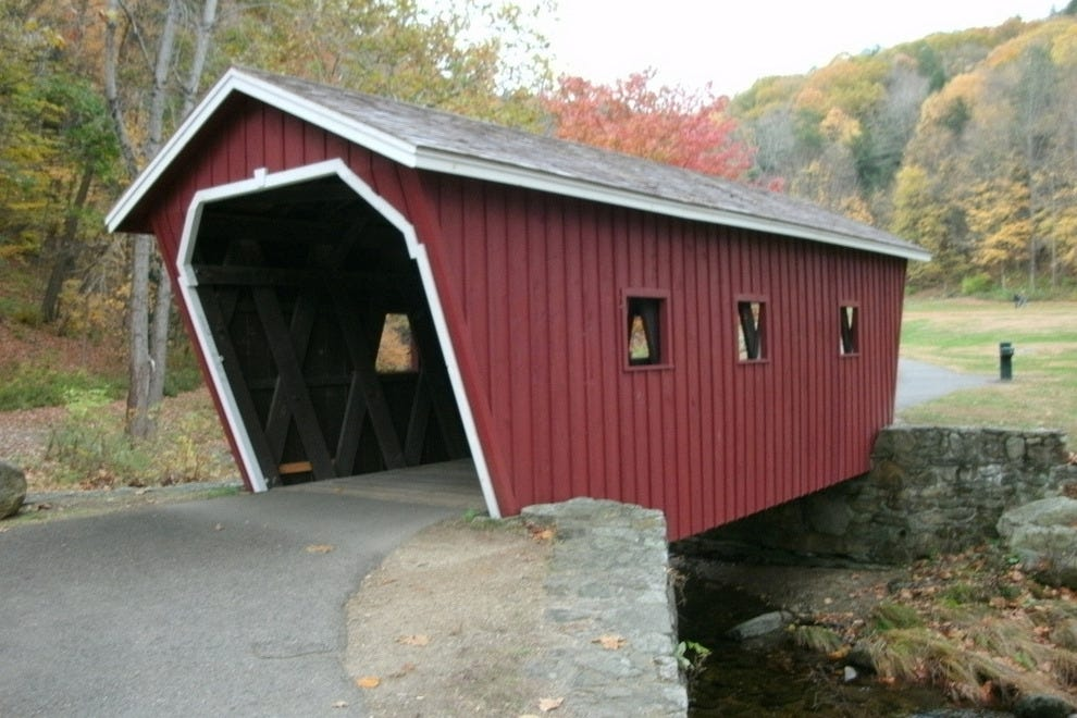 Kent Falls State Park covered bridge