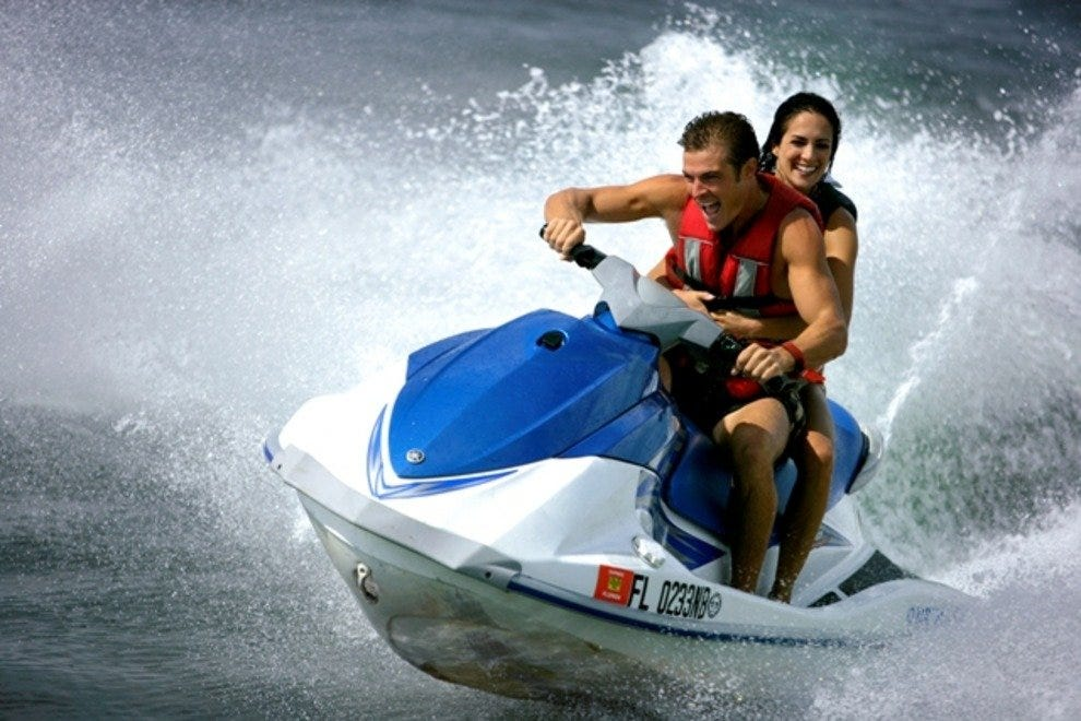 Fun on Barefoot Billy's Island Jet Ski Tour