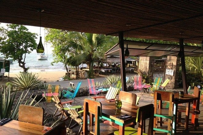 哥斯达黎加的户外餐饮
