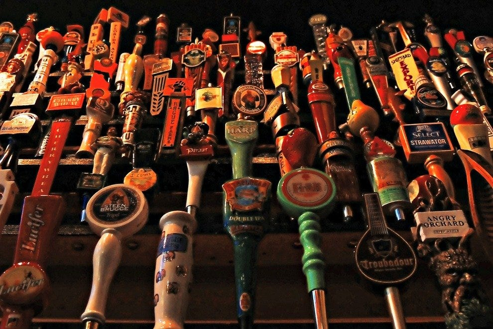 Vast array of beers on tap at World of Beer Key West
