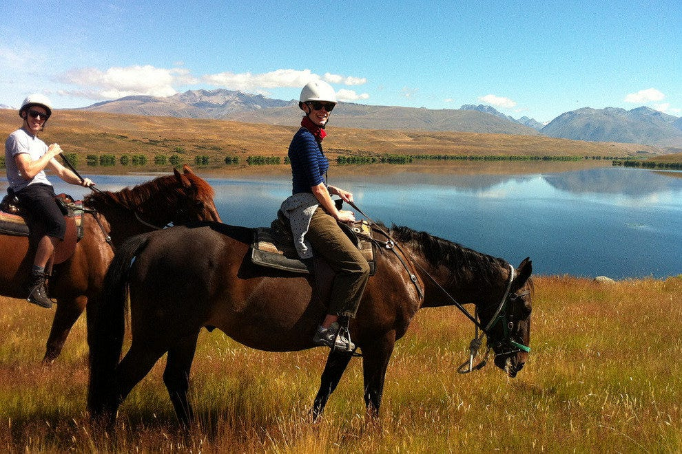 Riding in New Zealand's Mackenzie Country