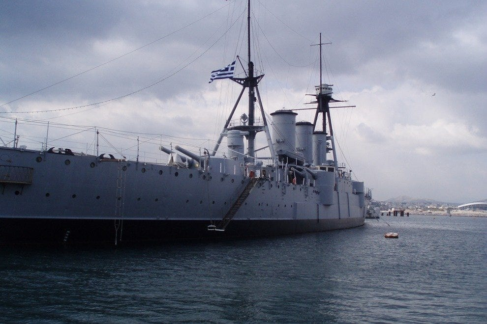 Floating Naval Museum Battleship Averof Athens Attractions Review