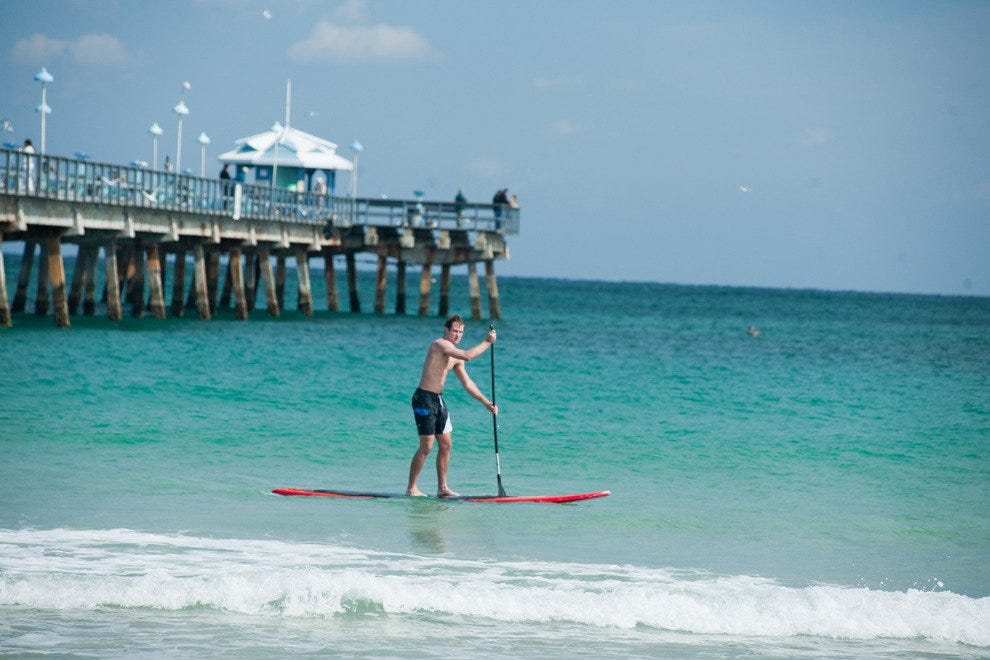 Enjoy paddleboarding on the Atlantic