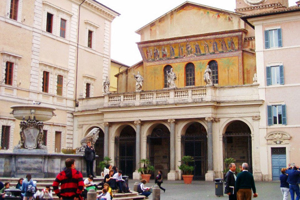 Delightful Piazza Santa Maria in Trastevere is a happening spot day or night