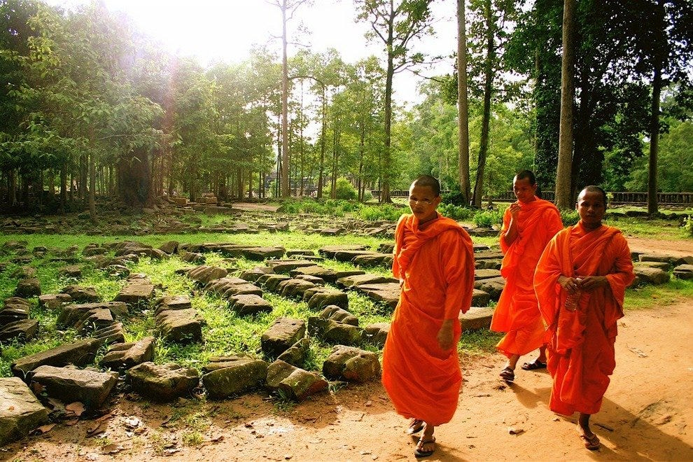 Monks near Bayon Temple