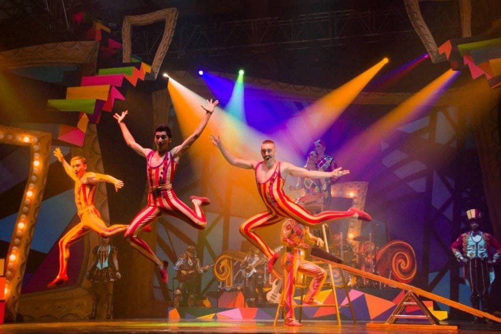 Cirque Dreams Rock combines European cirque-style with American circus arts and Broadway theatrics
