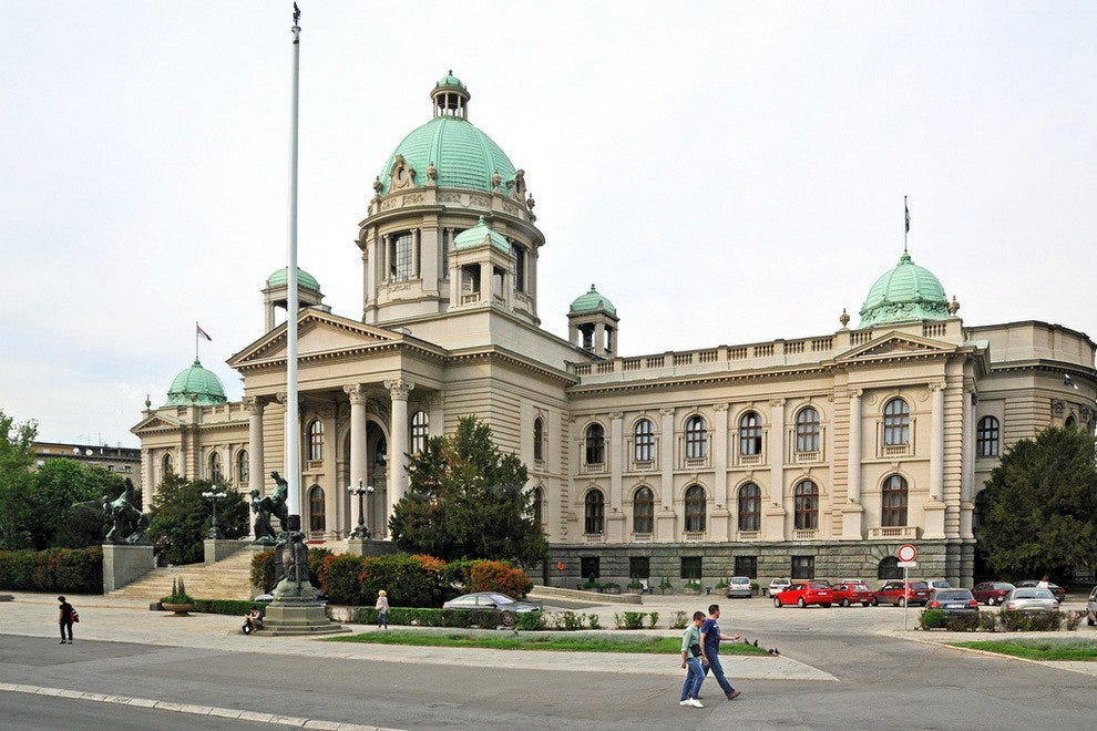 National Assembly building in Belgrade