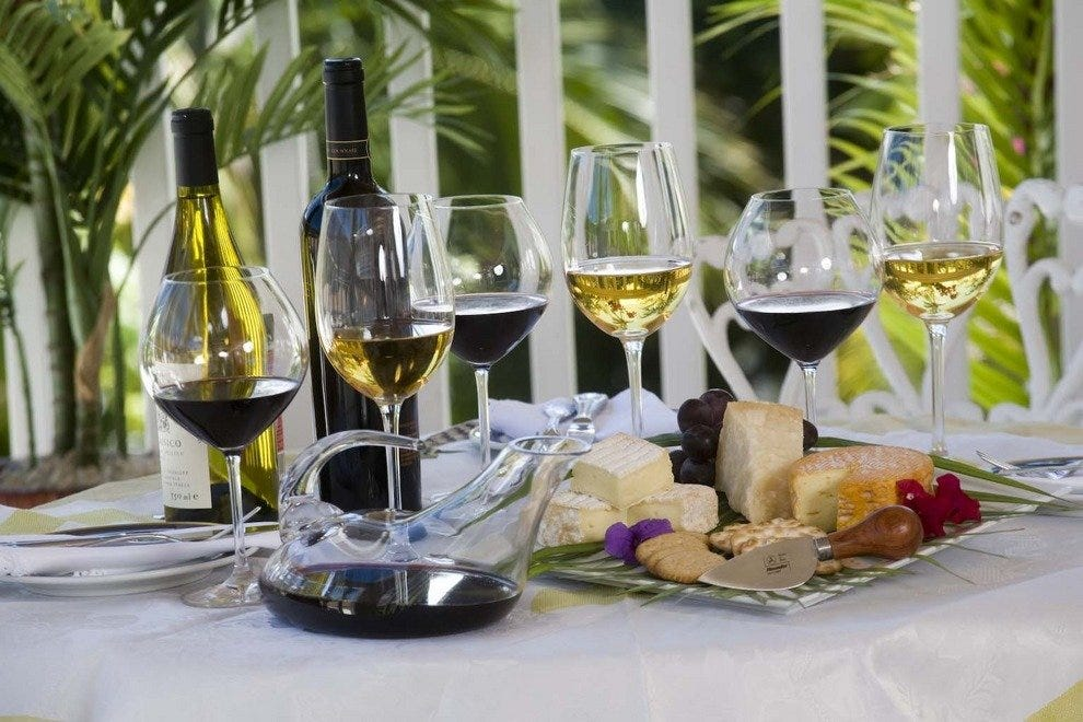 Make your reservation for the wine luncheon at Graycliff Restaurant