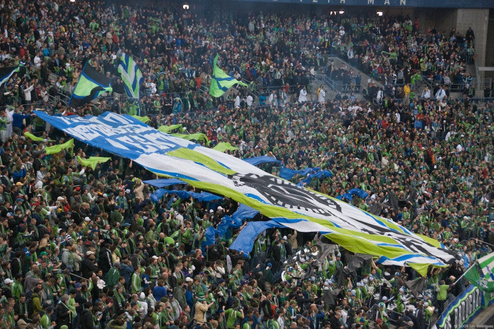 Sounders fans in Qwest Field