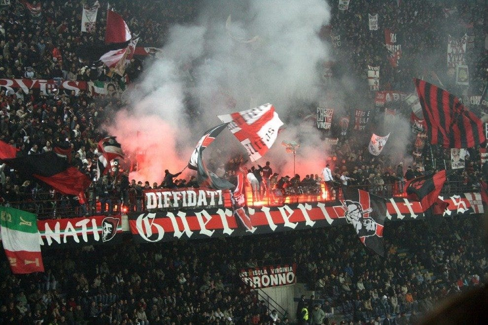 AC Milan Ultras, the rowdiest group of fans