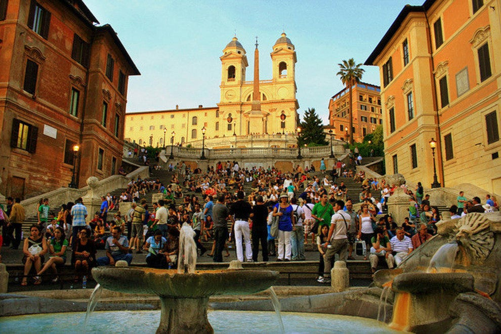 Rome's Spanish Steps are great for people watching