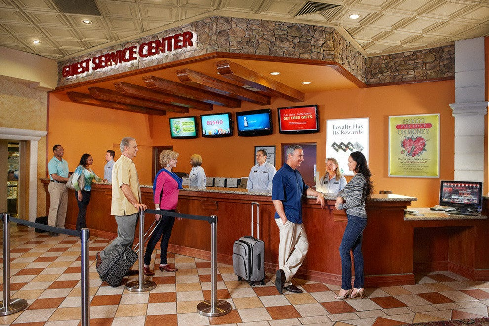 The new guest service center at Silver Sevens Hotel & Casino