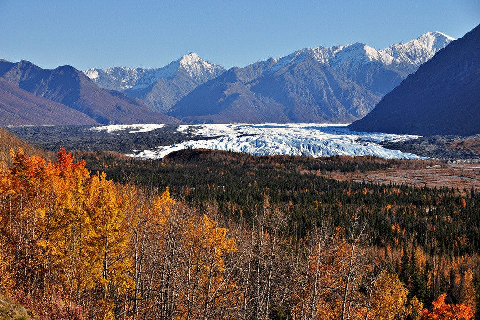 Matanuska Glacier in the distance