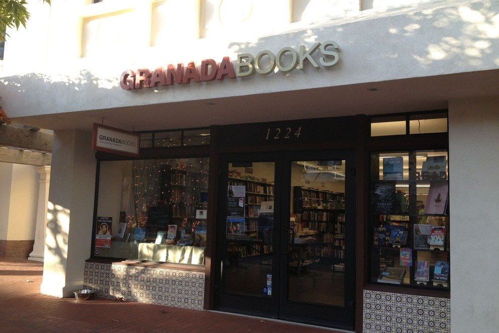 Granada Books is located in downtown Santa Barbara's Arts District