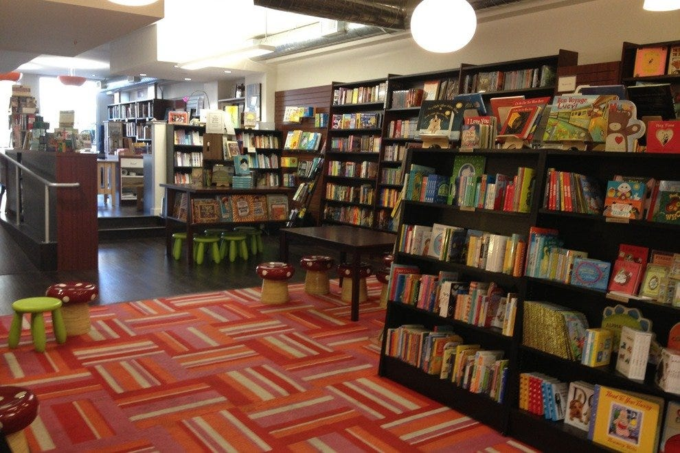 The colorful children's area at Granada Books
